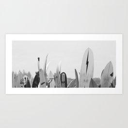 Surf Boards Art Print