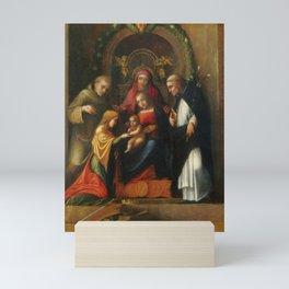 Antonio da Correggio - Matrimonio mistico di santa Caterina d'Alessandria e santi Mini Art Print