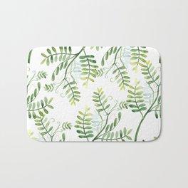 Forest Ferns Pattern Bath Mat