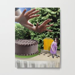 Oh no not the cake... Metal Print