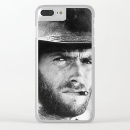Clint Eastwood Cowboy Clear iPhone Case