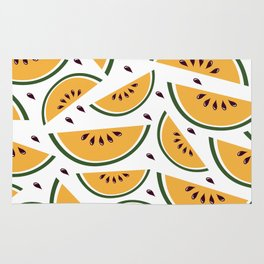 Yellow watermelon pattern art Rug