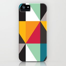 Geometric Pattern #30 (triangles) iPhone Case