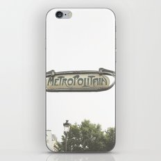 Metropolitain Sign iPhone & iPod Skin