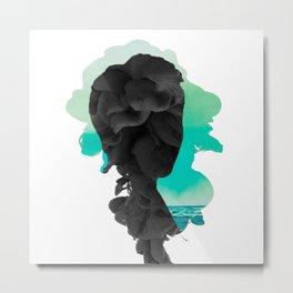 BTS - Rap Monster Smoke Effect Metal Print