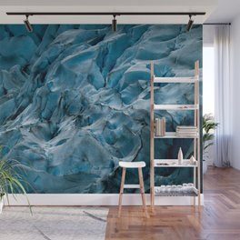 Blue Ice Glacier in Norway - Landscape Photography Wall Mural