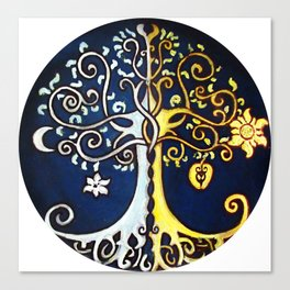 Valinor Trees Canvas Print
