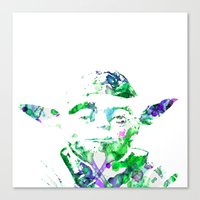 yoda Canvas Prints featuring Yoda by NKlein Design