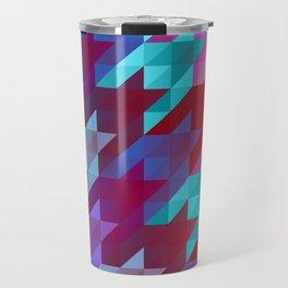 gradient origami houndstooth Travel Mug
