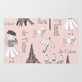 Paris Girl - Pink Rug