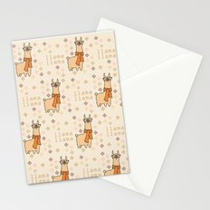 Llama Llama Pattern Stationery Cards