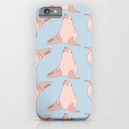 Cute Sea Lion Pattern iPhone Case