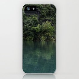 Trees on the Riverbank iPhone Case