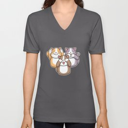 Cat design for a cat fan Unisex V-Neck