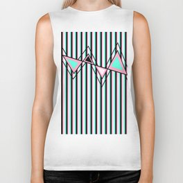 Stripes, Triangles and ZigZags Biker Tank