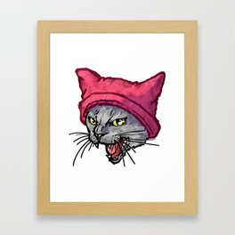 The Cat in the Hat (Russian Blue) Framed Art Print