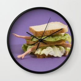 Ultraviolet Sandwich Doll Wall Clock