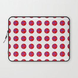 flag of norway 13 – polka dot version Laptop Sleeve