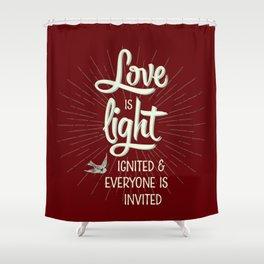 Love is Light Shower Curtain