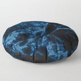 Blue Glitter Marble Texture Floor Pillow