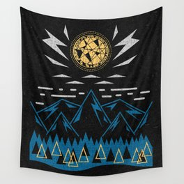 Sun Strike Over The Mountains Wall Tapestry