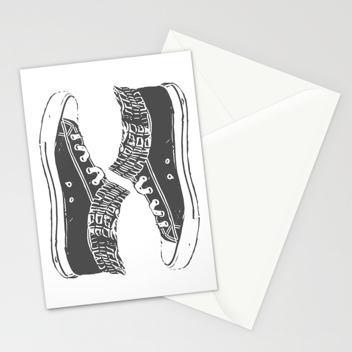 "Fashion Modern Design Print ""Sneakers""! Hip hop gangster style Stationery Cards"