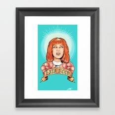 St. Leeloo of the Big Bada Boom Framed Art Print