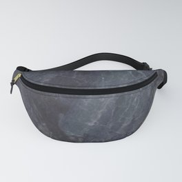Navy Blue Marble Fanny Pack