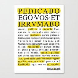 Pedicabo ego vos et irrumabo. Catullus XVI. Canvas Print