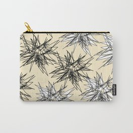 Black and White Squiggles Carry-All Pouch