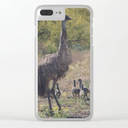Dad and the Kids Clear iPhone Case