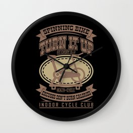 SPINNING BIKE Funny Cycling Gift Bicycle Rider Wall Clock