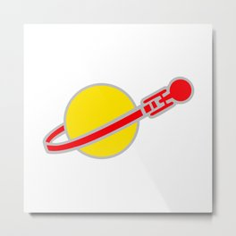 Brick Trek Metal Print