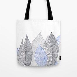 Pen & Ink Leaves Tote Bag