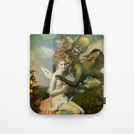 """""""The body, the soul and the garden of love"""" Tote Bag"""
