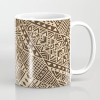 tribal Mugs featuring Tribal  by Terry Fan