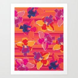 Fluor Flora - Hot Flamingo Art Print
