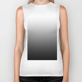 Black and White Gradient Biker Tank