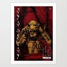 Predator (color version) Art Print