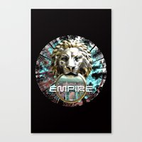 lions Canvas Prints featuring LIONS by infloence