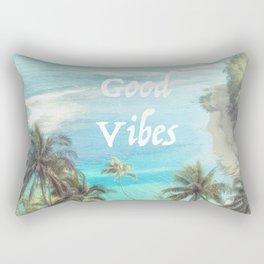 Good Vibes Beachy Palms Rectangular Pillow