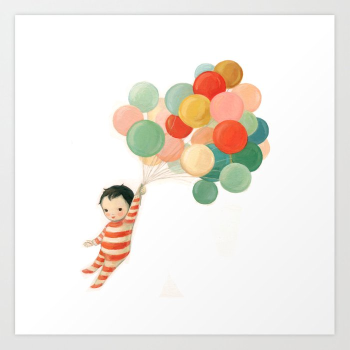 Wonderful Things Balloon Baby by Emily Winfield Martin Kunstdrucke