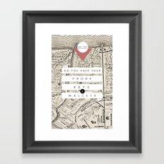 Phone, Keys, Wallet Framed Art Print