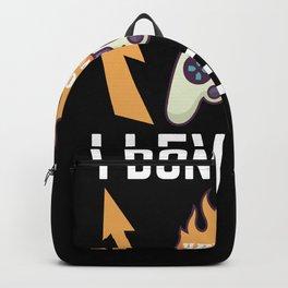 Funny Gamer Gift for Boys and Girls Backpack
