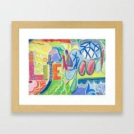 Life is Good Framed Art Print