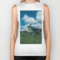 ford Biker Tanks featuring Ford Tractor by OctaviusEst