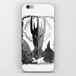 Two faces of Sauron iPhone Skin