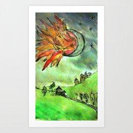 burning the night Art Print