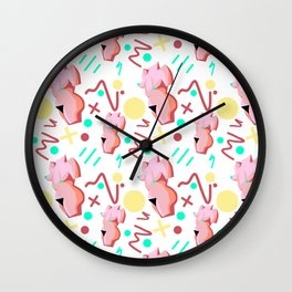 Pink Lady from the 80s Wall Clock