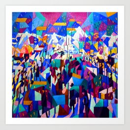 Gino Severini The Boulevard Art Print